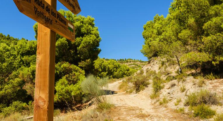 Parque natura protegido Bardenas Reales en Navarra en el norte de España el desierto más grande de Europa está en Navarra España