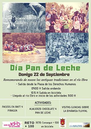 Día del Pan de Leche o Fluviosarao de Valtierra en los sotos del río Ebro en la Ribera de navarra actividades acuáticas, rafting y gastronomía aire libre